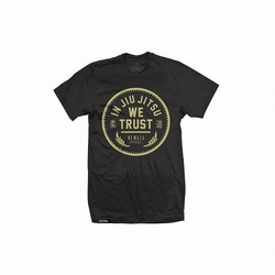 In Jiu Jitsu We Trust Gold on Black 1