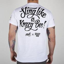 tshirt KRAZY BEE white2