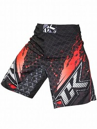 Shorts Stained S2 BK Red1