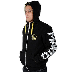 MANTO hoodie full zip OCTAGON black2