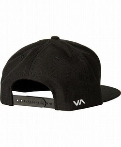 RVCA Twill Snapback III Hat blackwhite2