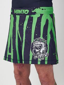 MANTO fight shorts ZOMBIE black green 1