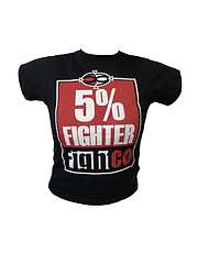 Fight Co Tシャツ 5% Fighter Child  黒