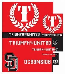 Triumph United ステッカーPack 赤