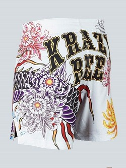 MANTO X Krazy Bee fight shorts DRAGON white 2