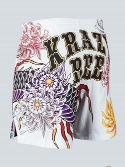 MANTO X Krazy Bee fight shorts DRAGON white 2