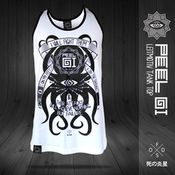 タコ LEITMOTIV BJJ White Belt Tank Top 1