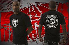 NAJA Tシャツ MMA X 黒