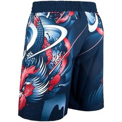 Rooster Fitness Shorts navy orange 3
