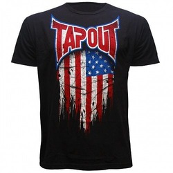 USA FLAG T-SHIRT black