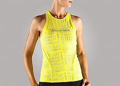Attack Mesh tanktop Ladys Yellow Front
