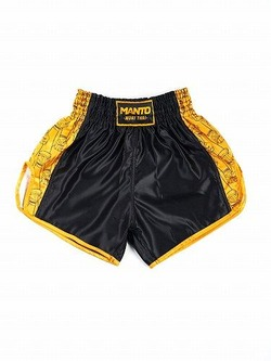 fightshorts MUAY THAI FISTS blackyellow2