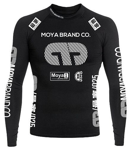 TEAM MOYA BLACK LS RASHGUARD black 1