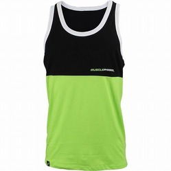 MusclePharm Stacked Tank Black Green 1