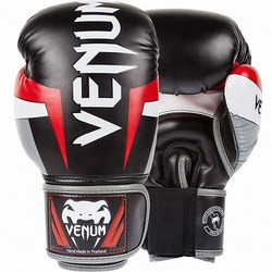 Glove Elite BK Gray Red1