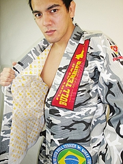 Bull Terrier jiu-jitsu gi