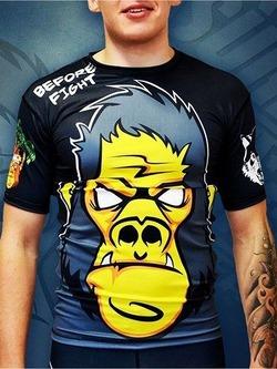 Gorilla Fight Rashguard Yellow 1