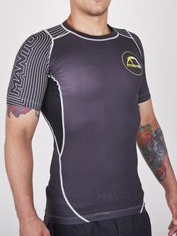 MANTO short sleeve rashguard HYBRID black 1