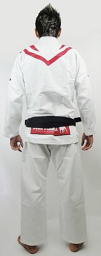 ブルテリア 柔術衣 フレア 白 バック