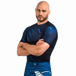Metaru Rash Guard SS blue1
