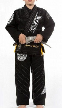 Kids Jiu Jitsu Gi Discipline Black 1