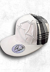 Cap-Flex Fit Retro Plaid(White)1