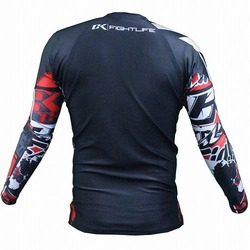 Collage Rashguard Long Red 2