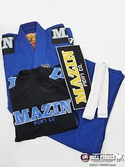 Mazin 柔術衣、ラッシュガード、パッチ、帯の4点セット