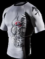 Mizuchi Rashguard SS White 1