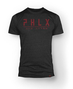 T_Shirt PHLX Jiu Jitsu BLK_RED 1