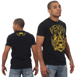 T-shirt Venum Jose Aldo Lion BK Yellow1