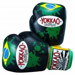 Brazilian Flag Black Boxing Gloves1