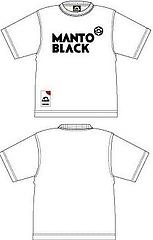 Manto Japan Tシャツ BLACK 白