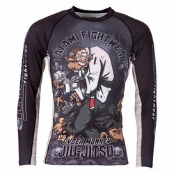 Cyber Thinker Monkey Rash Guard 1