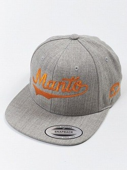 MANTO snapback cap NUMBER ONE melange 1