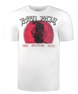 Samurai Warrior tee white 1