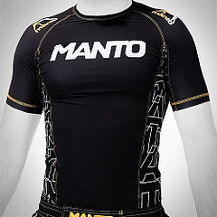 MANTO shortsleeve rashguard DYNAMIC black yellow1