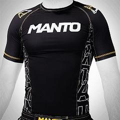 MANTO shortsleeve rashguard DYNAMIC black yellow1