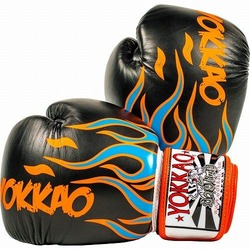 Inferno Black Muay Thai Boxing Gloves1