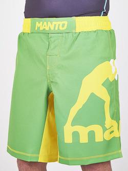 MANTO fight shorts PRO LOGO green 1