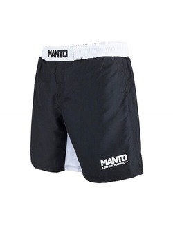 fight shorts DEFEND blackwhite1