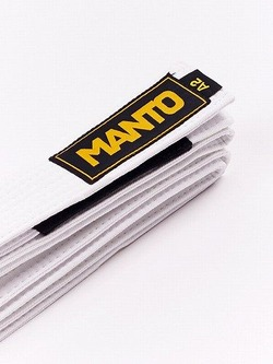 MANTO belt BJJ LOGOTYPE white