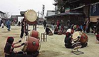 四王子神社 - ふんどし姿でわらの的を奪い合う「的ばかい」、銀杏・ソテツなどの古木