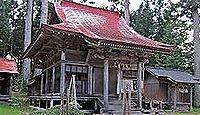 荒雄川神社(鳴子温泉) - もとは荒雄岳山頂鎮座の式内社、境内に明治天皇愛馬を祀る