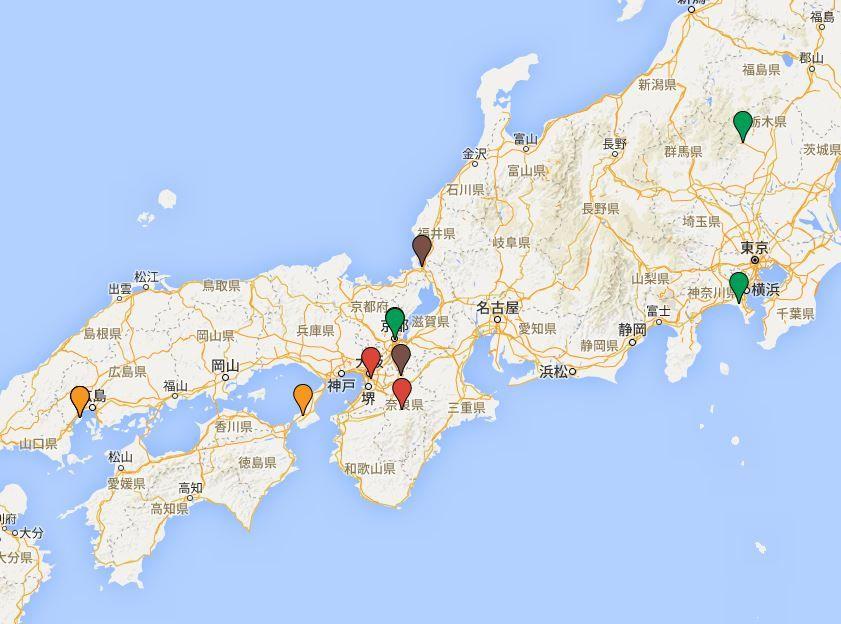 日本三大鳥居 - 日本を代表する三つの鳥居、大きさや木造・石造などの区分で数種類ある