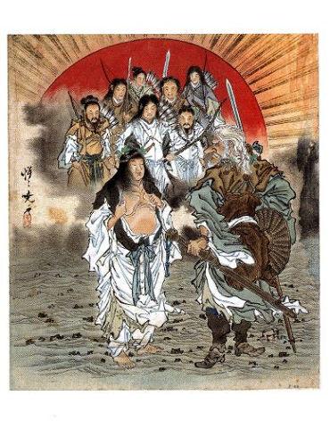 『日本神話シリーズ』天孫降臨 - アメノウズメが肌を露わにしてサルタヒコを誑し込む?【大古事記展】のキャプチャー