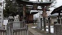 柳原神社(長野市) - 善光寺の注連縄を焼いた笹焼神社、平成期に道路拡幅で境内を一新