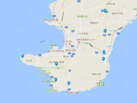 延喜式神名帳 安房国の式内社 6座のキャプチャー