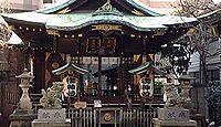 幸稲荷神社(港区) - 幸事が続出して社号が定着、病気平癒の神や社宝も、茅野天神