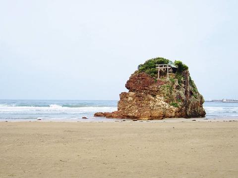 稲佐の浜と周辺で整備事業の起工式、飛砂対策と神話観光の整備 完成は平成30年代初めのキャプチャー